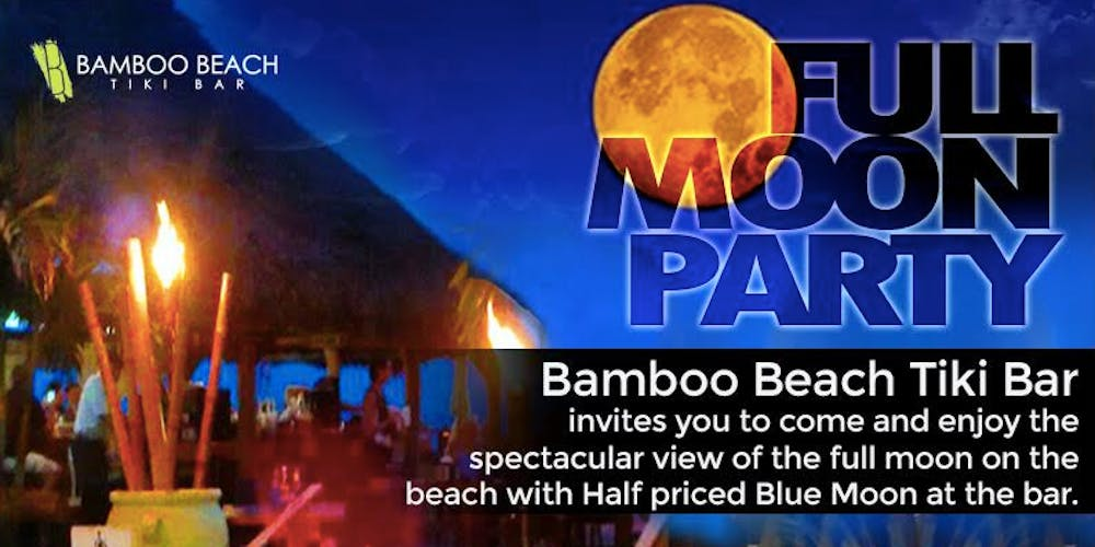 Monthly Full Moon Party on the Beach Tickets, Multiple Dates