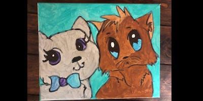 "Paint & Juice Presents ""Kitten Creation Station"" Paint Experience"