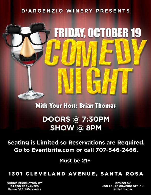 Comedy Show - Fri October 19th