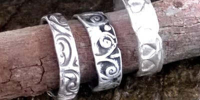 Fine Silver Ring making workshop in precious metal clay