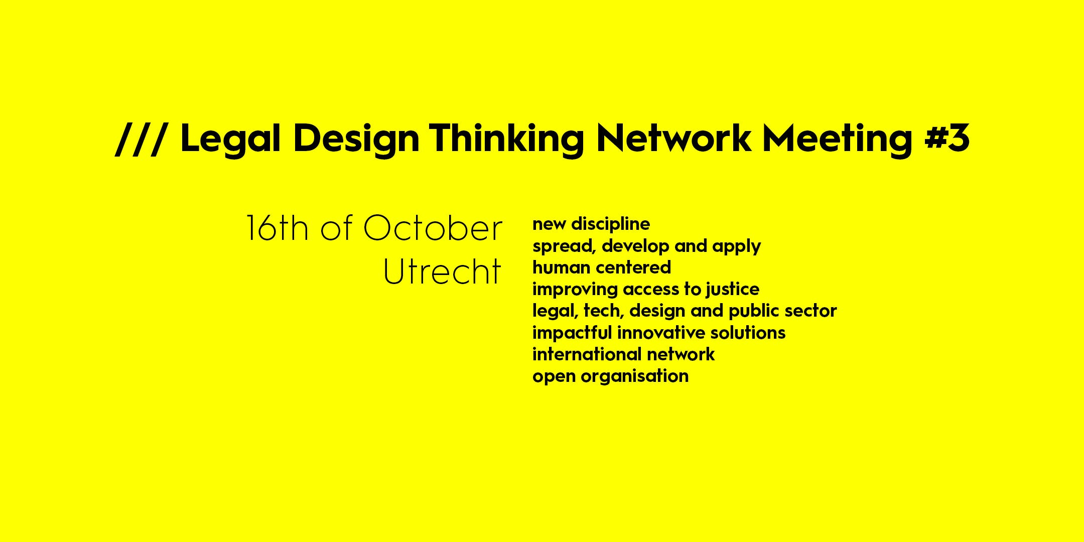 Legal Design Thinking Network meeting #3