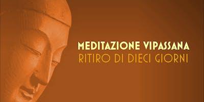 Meditazione Vipassana - ritiro di 5+5 giorni a Pontremoli