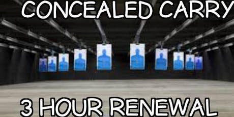 Three Hour Renewal - Concealed Carry Class(Beverly/Morgan Park area) tickets