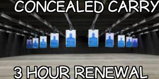 Three Hour Renewal - Concealed Carry Class(Beverly/Morgan Park area)