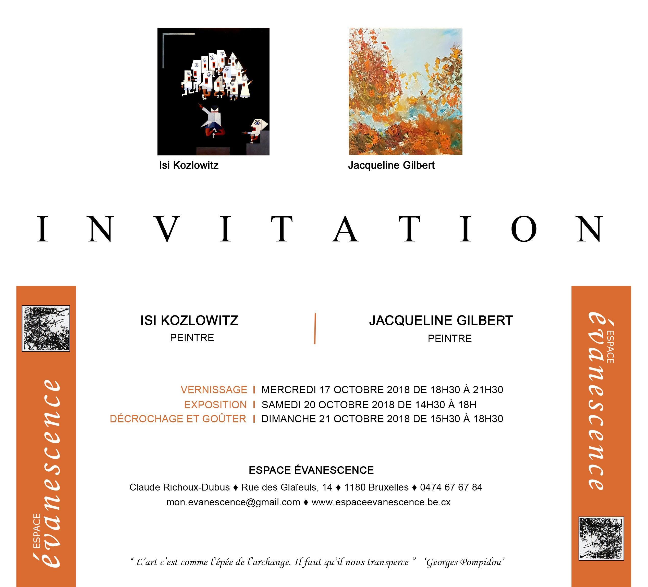 exposition Isi Kozlowitz et Jacqueline Gilber