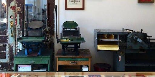 Letterpress Printing on the Vandercook + C&P Pilot Press