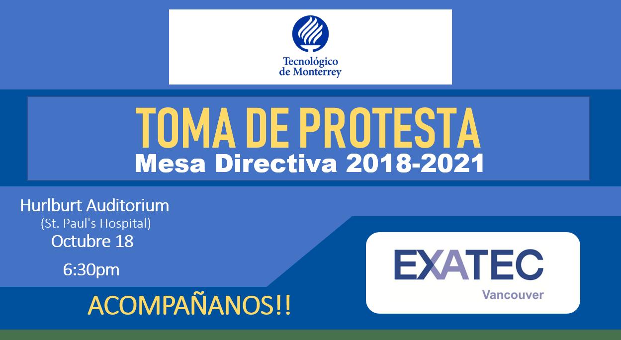 Toma de Protesta - EXATEC Vancouver 2018-2021