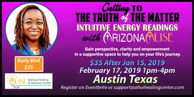 Intuitive Energy Readings with ArizonaAlise in Austin, Texas