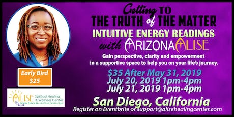 Intuitive Energy Readings with ArizonaAlise in San Diego, California tickets