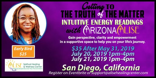 Intuitive Energy Readings with ArizonaAlise in San Diego, California