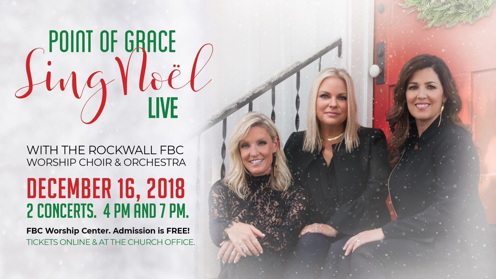 """Sing Noel"" Point of Grace and The Rockwall F"