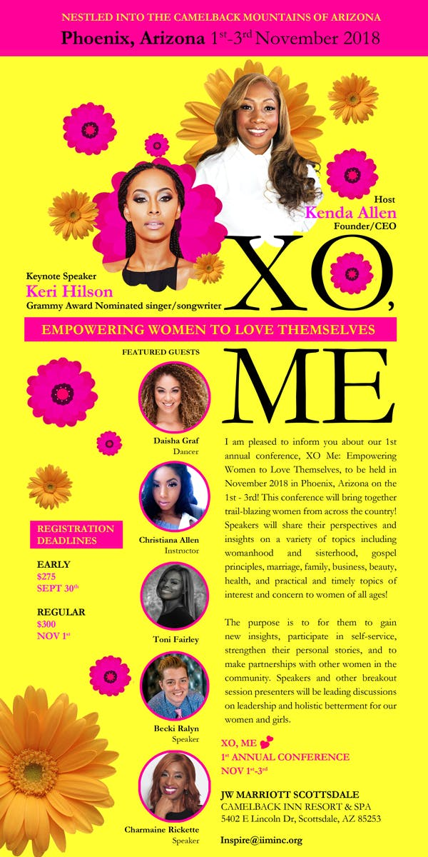 Invest In Me Women's conference: XO Me Ft. Keri Hilson