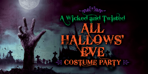 a wicked and twisted all hallows eve costume party