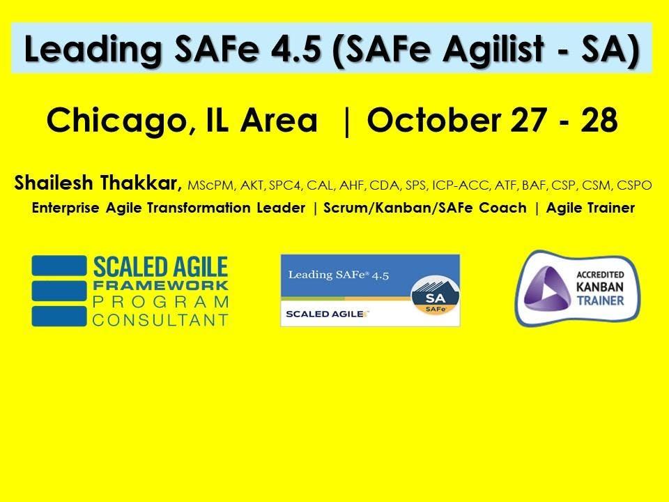 Leading Safe 45 Safe Agilist Sa Certification At Chicago Glenview