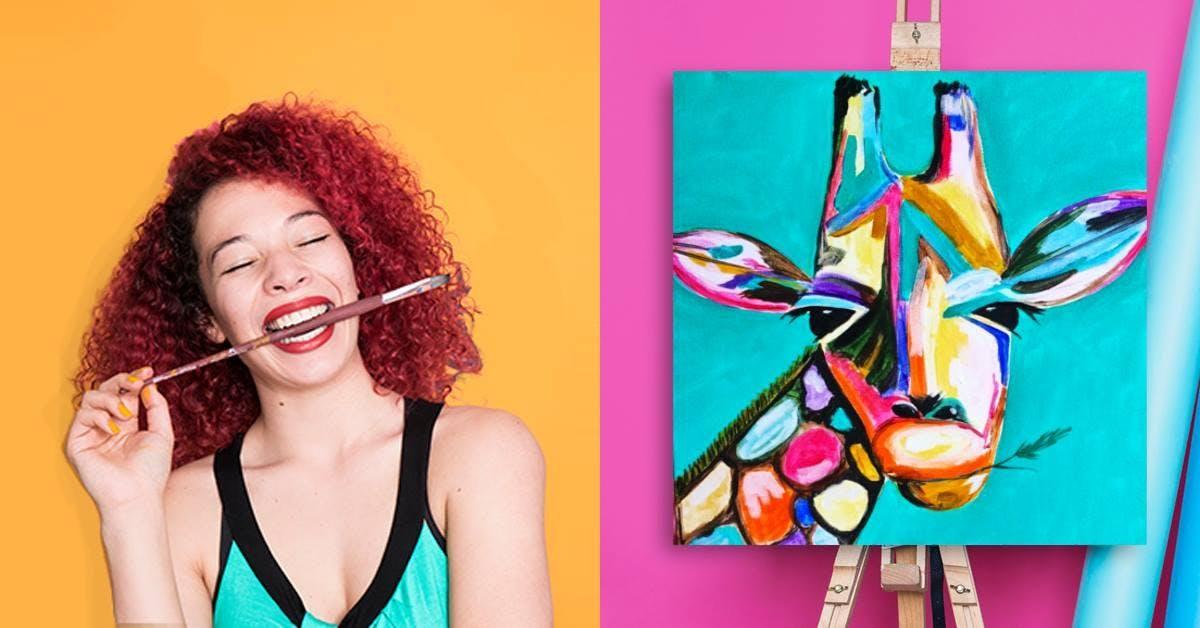 ArtPub Kunstworkshop im Hemmer - Giraffe