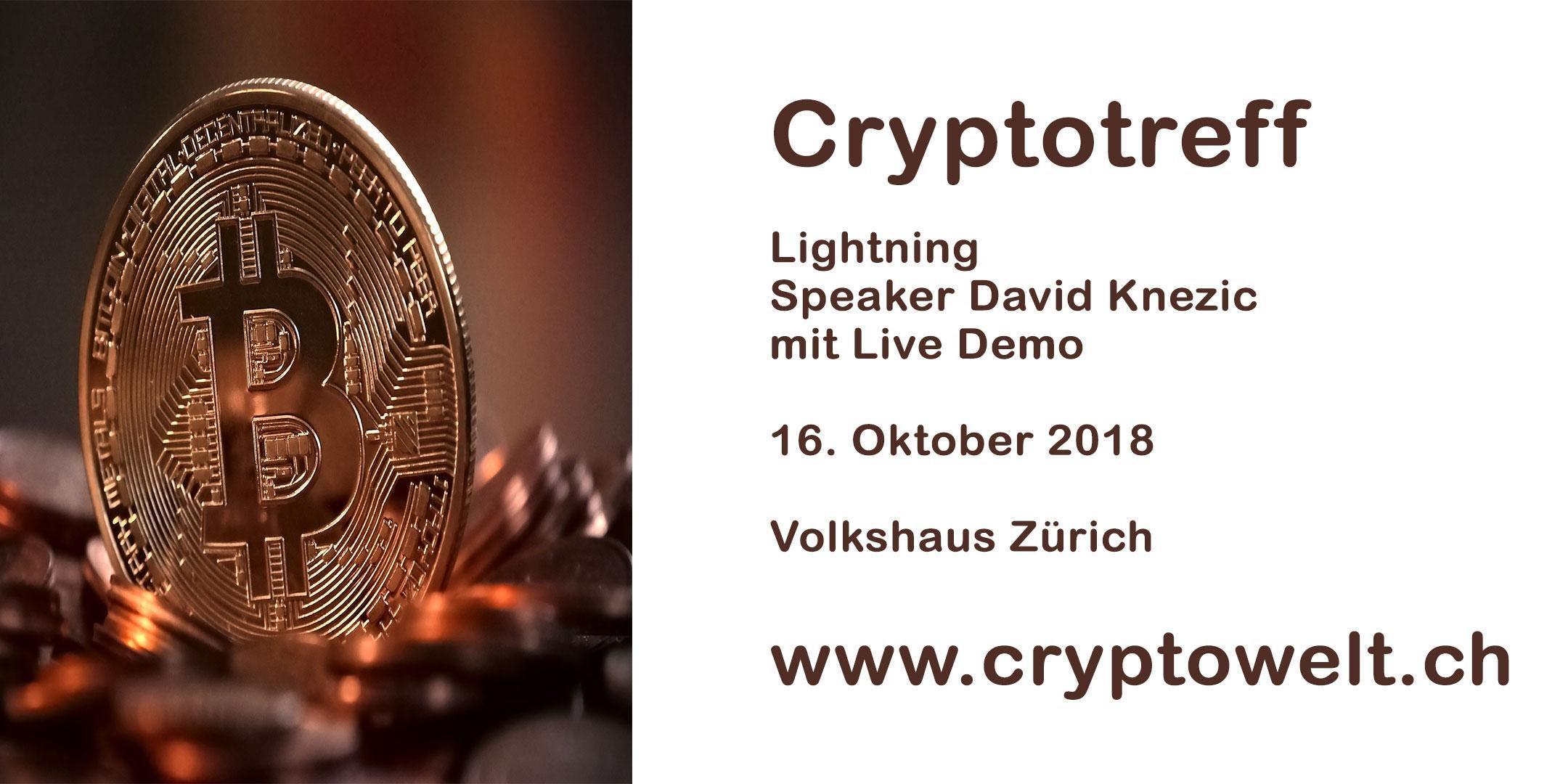 Cryptotreff - Bitcoin - Lightning - Volkshaus Zürich