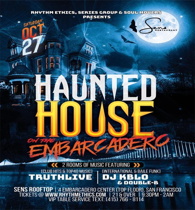 Sens Rooftop Halloween Party 2020 Haunted House on the Embarcadero @ SENS Rooftop & Lounge   28 OCT 2018