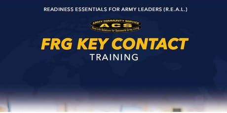 REAL SFRG:  Key Contact Training tickets