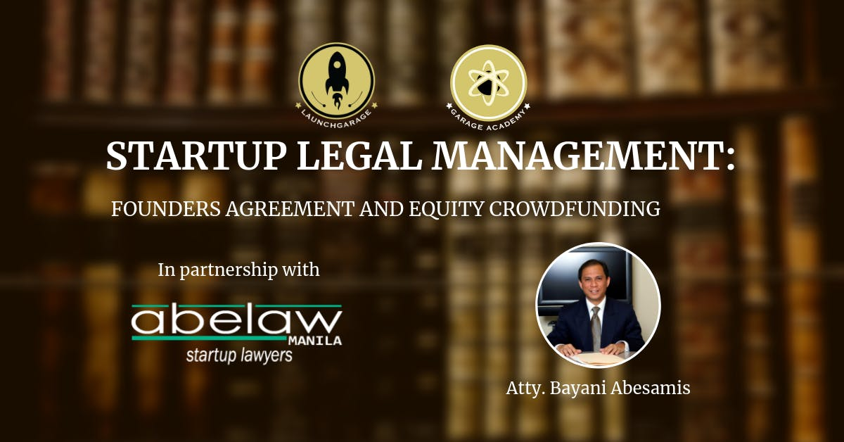 Startup Legal Management Founders Agreement And Equity Crowdfunding