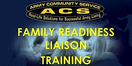 REAL SFRG:  Family Readiness Liaison Training