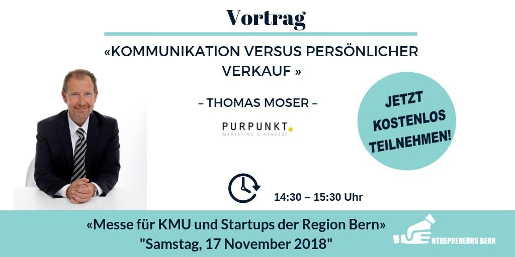 Kommunikation versus persönlicher Verkauf