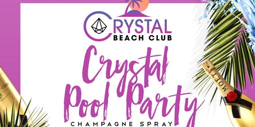 Crystal Pool Party Champagne Spray