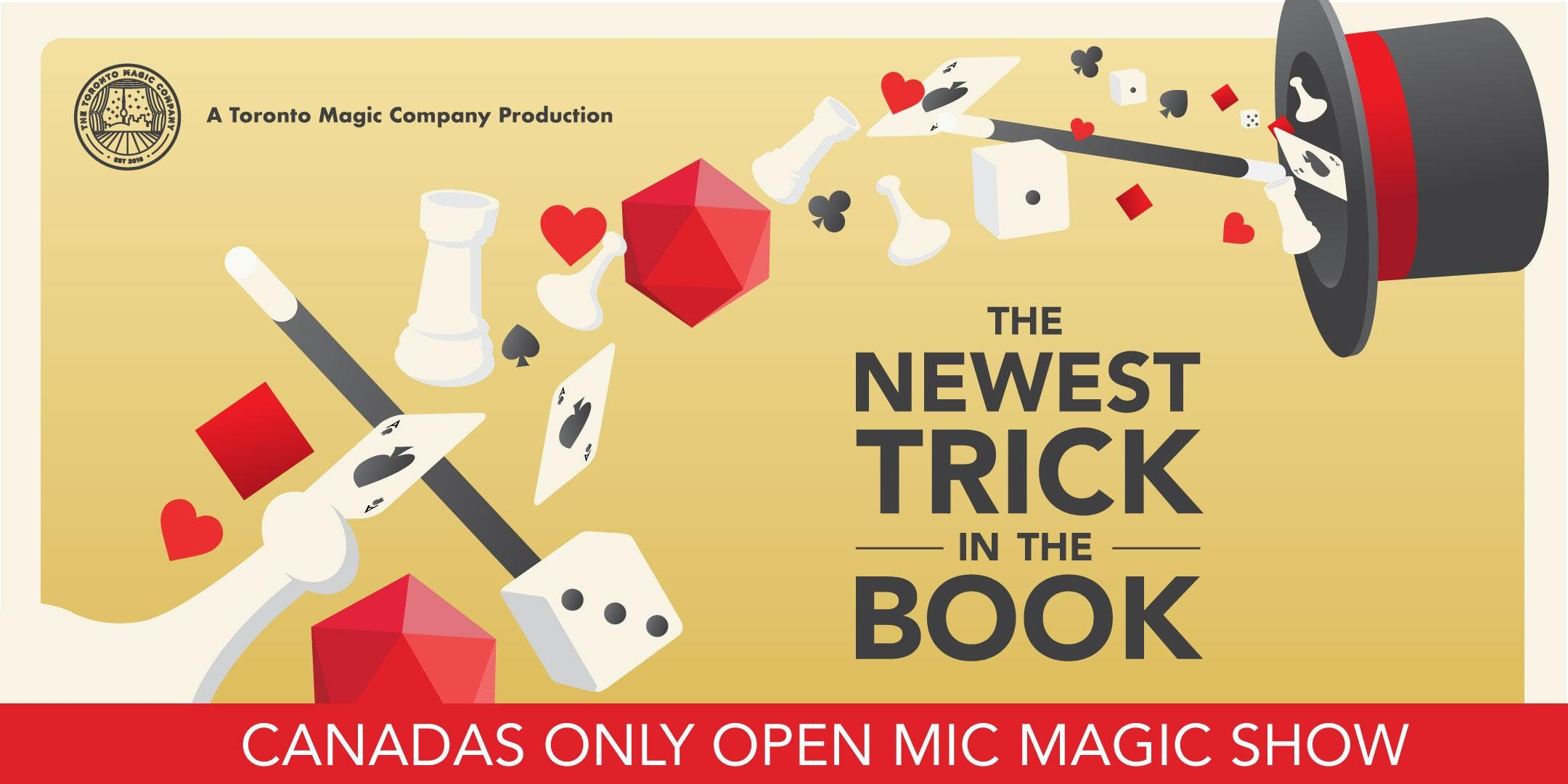 The Newest Trick in the Book: Canada's only open-mic magic show!