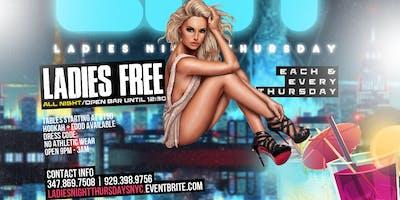 Ladies Night Thursdays Inside Oo bar & Lounge ( Queens  )