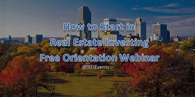 Investing in Real Estate Webinar Orientation - Arkansas AR