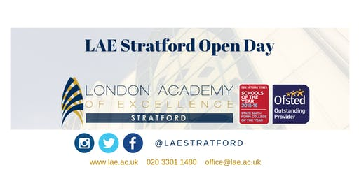 LAE Stratford Open Day 30 October 2019