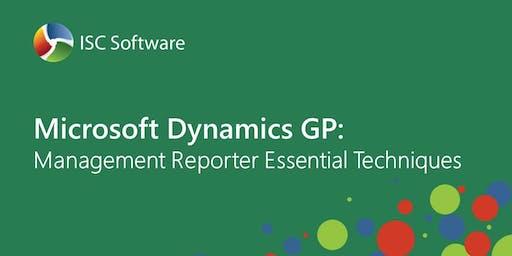 Microsoft Dynamics GP Training: Management Reporter Essential Techniques