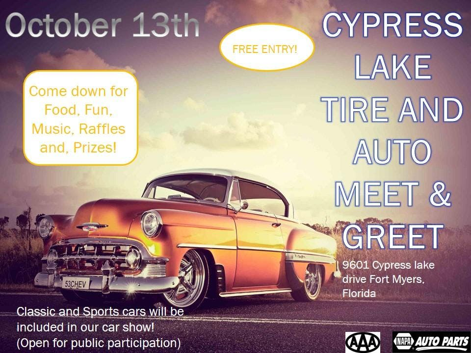 Cypress Lake Tire Auto Meet And Greet OCT - Fort myers car show 2018