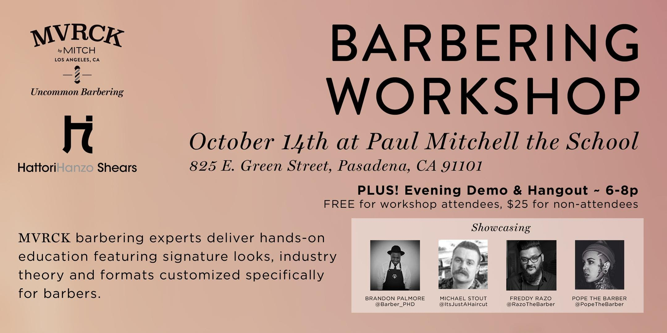 Mvrck Barber Workshop 14 Oct 2018