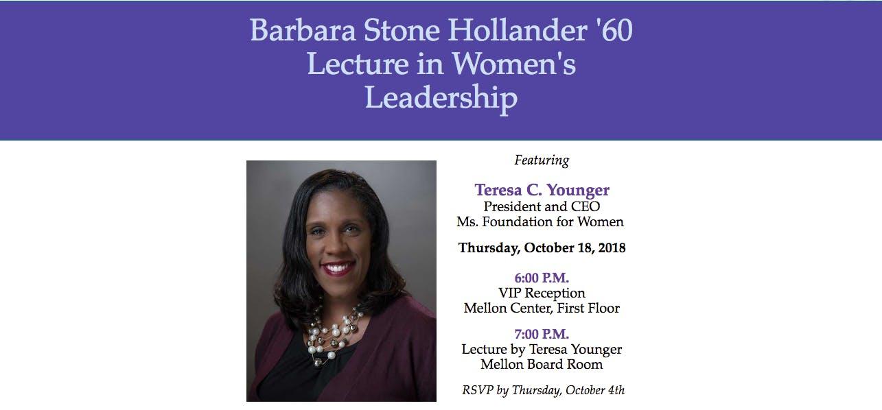 Barbara Stone Hollander '60 Lecture in Women'