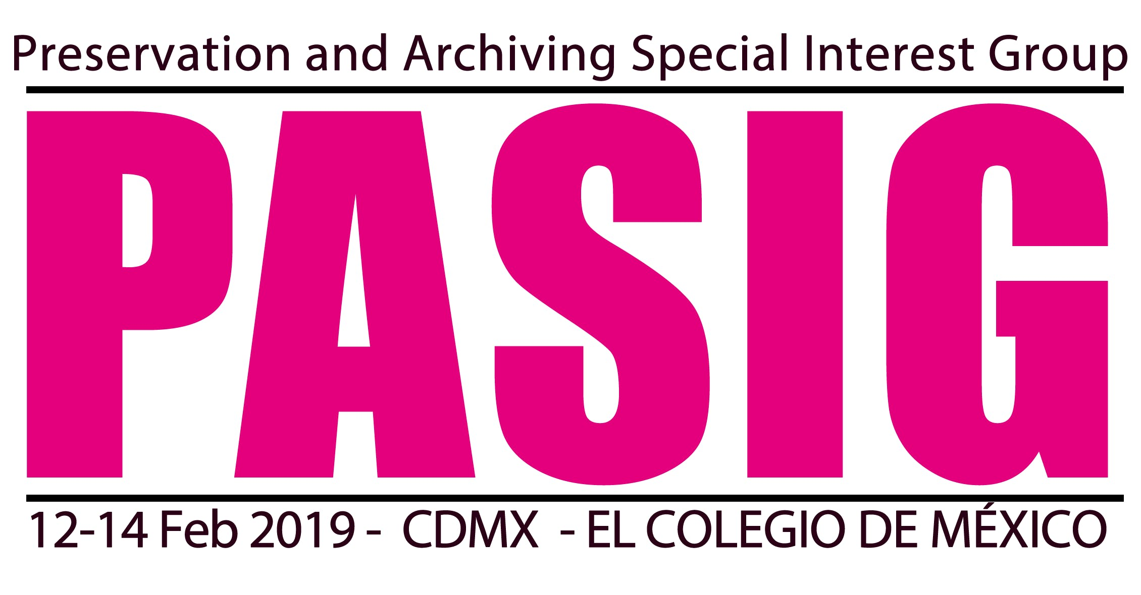Preservation and Archiving Special Interest Group (PASIG) 2019