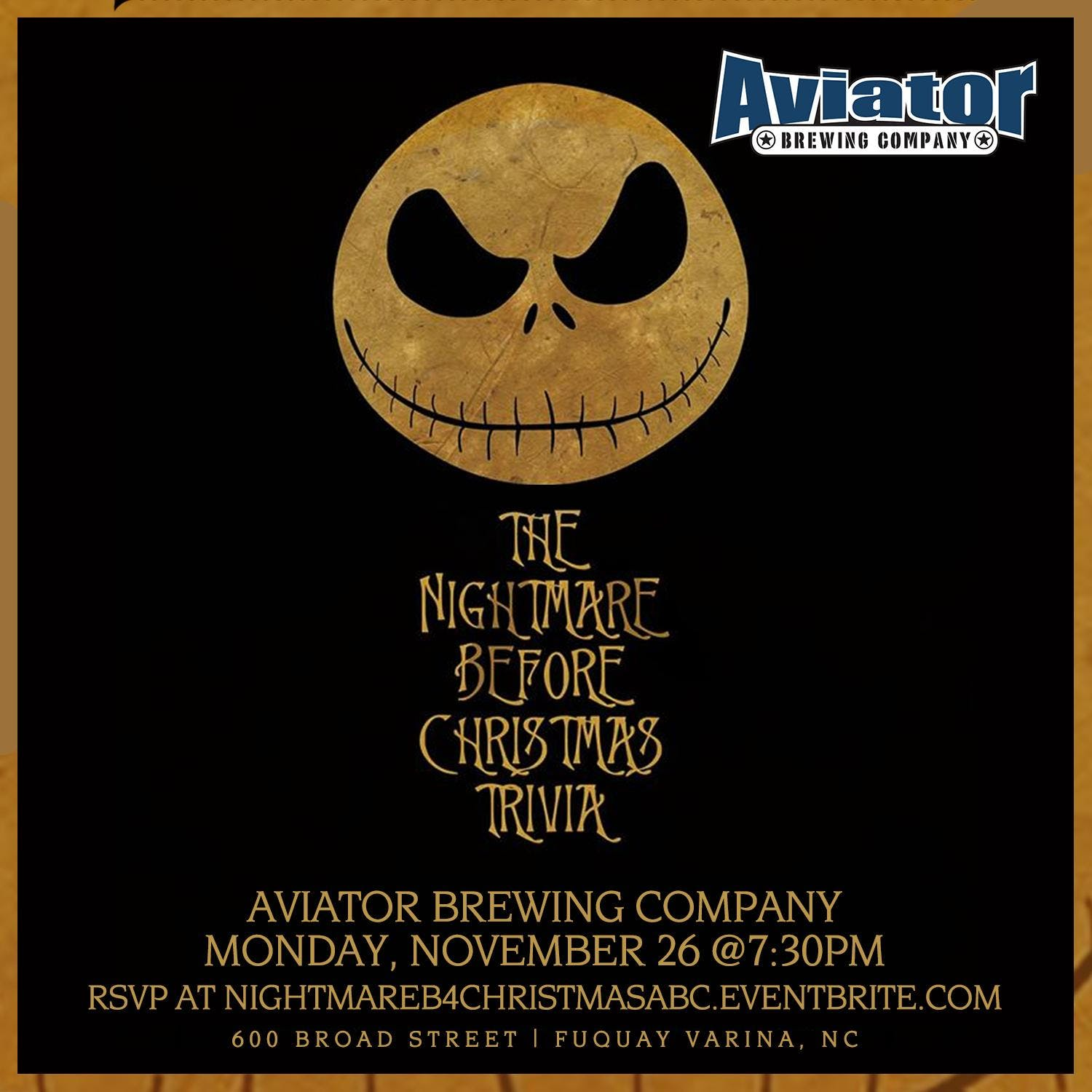The Nightmare Before Christmas Trivia @ Aviator Brewing Taphouse ...