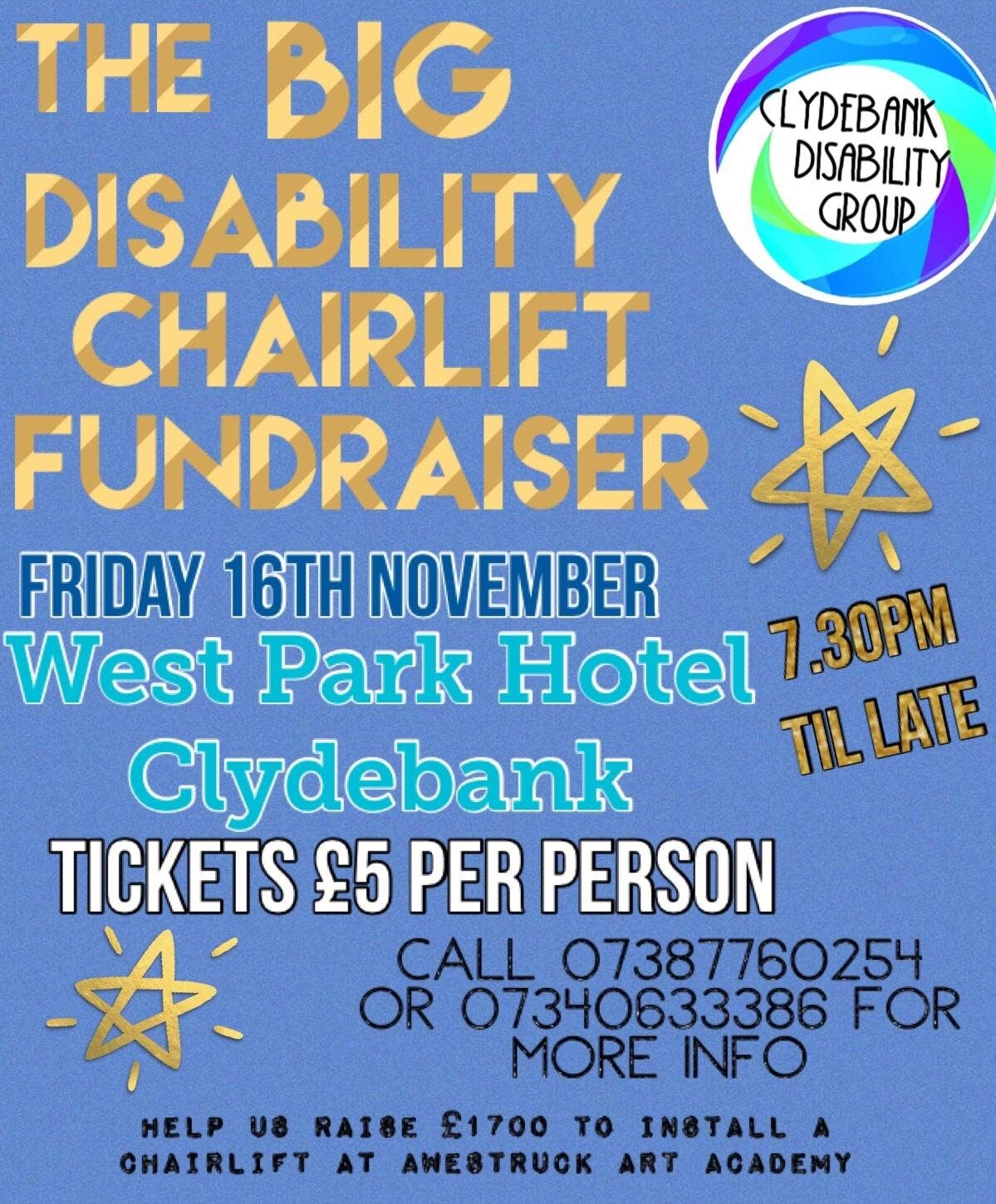 Big Disability Chairlift Fundraiser