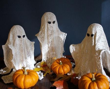 Make your own ceramics Halloween candle holders - Ghost or pumpkin?
