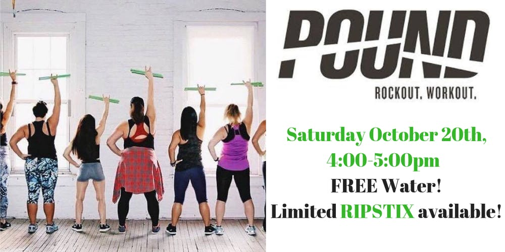 POUND fitness Class Tickets, Sat, Oct 20, 2018 at 4:00 PM | Eventbrite