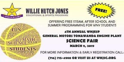 Willie Hutch Jones Educational & Sports Programs - 4th Annual Science Fair March 9, 2019  1-3PM