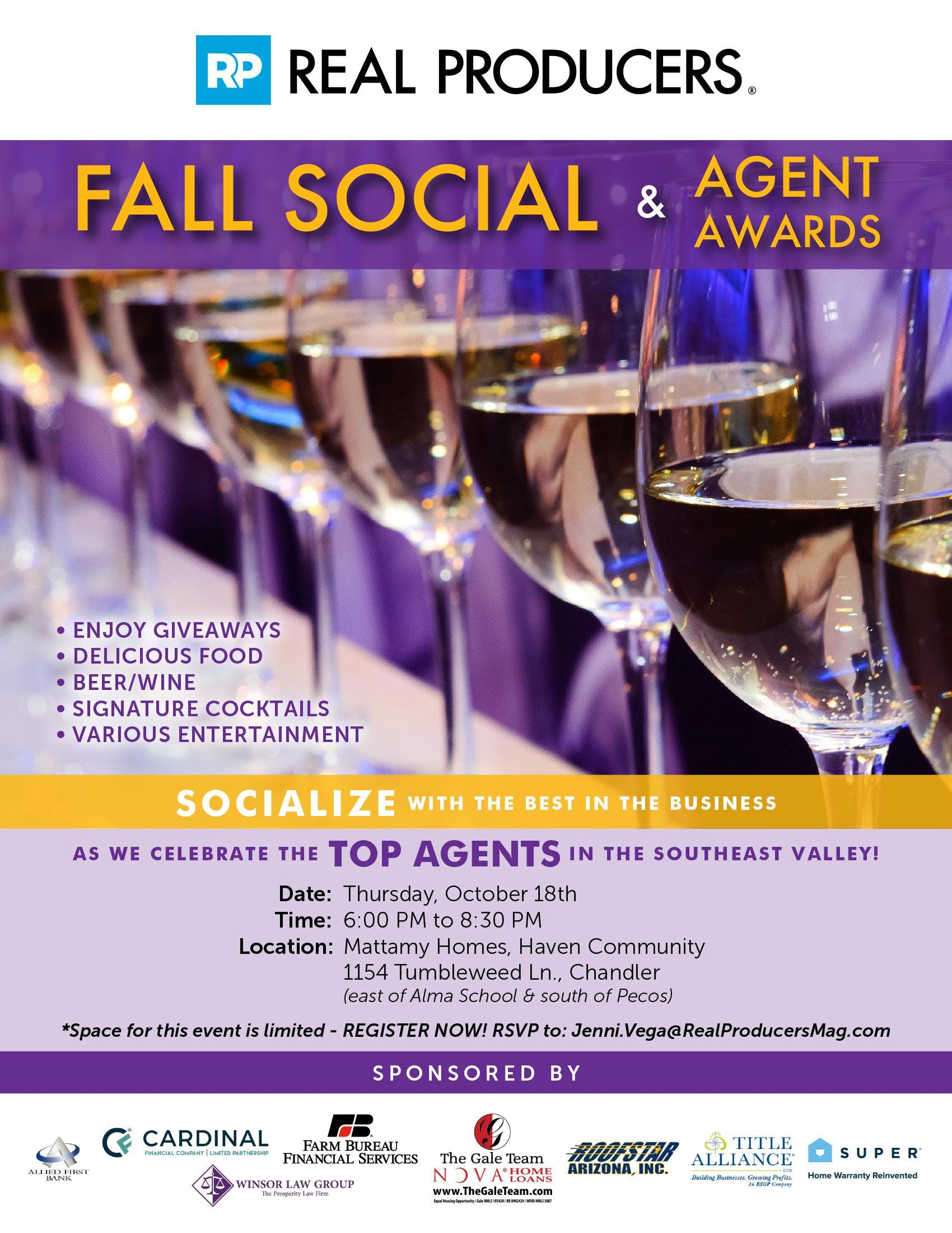 Real Producers Fall Social & Agent Awards