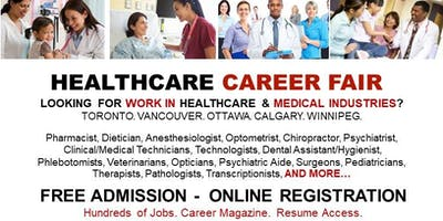 Toronto Healthcare Job Fair - October 24th, 2019