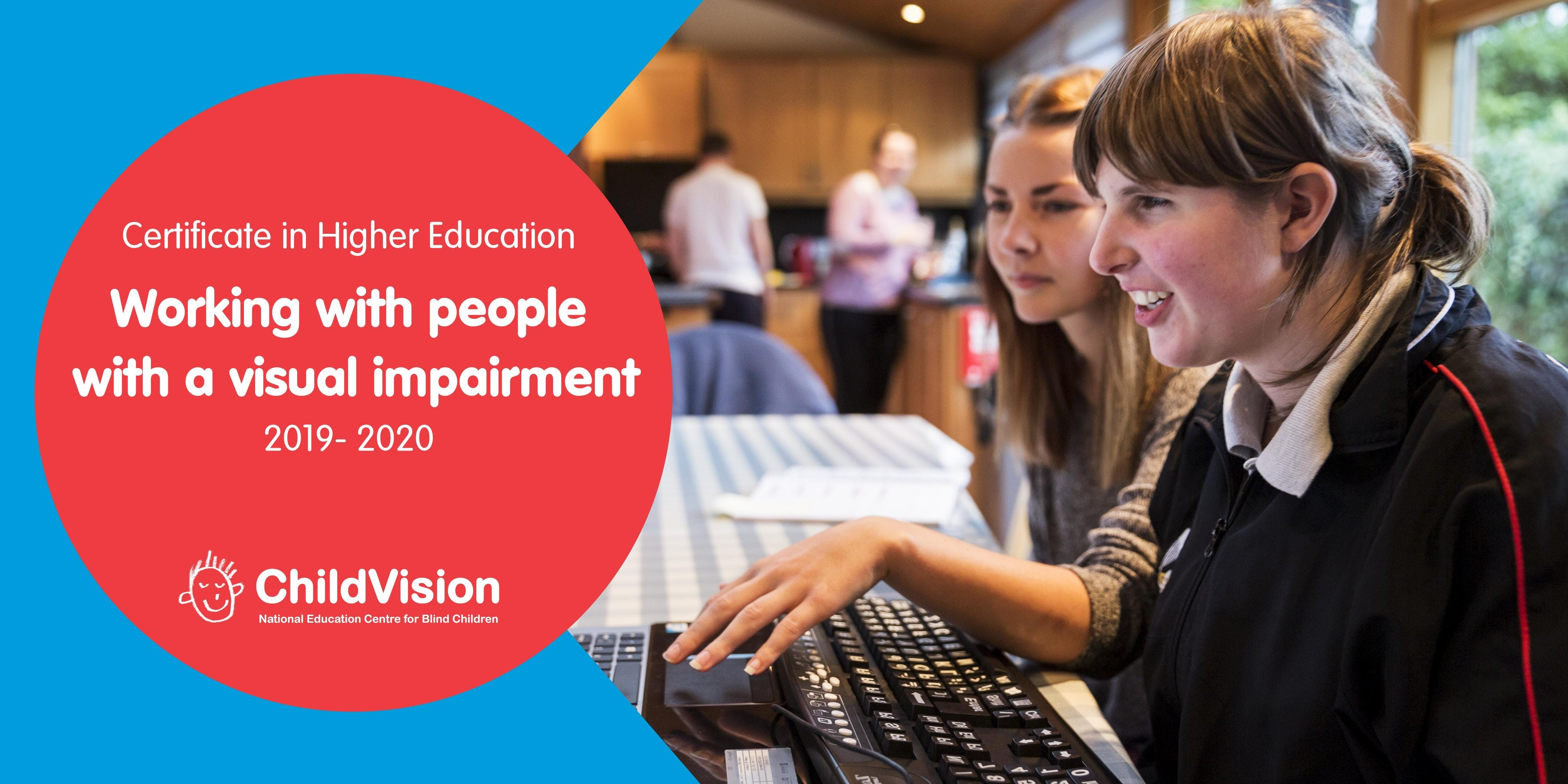 Certificate in Higher Education: Working with people with a  visual impairment