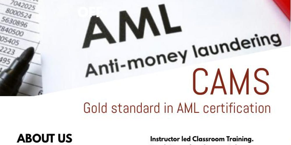 Certification In Antimoney Laundering Specialist Cams Tickets Fri