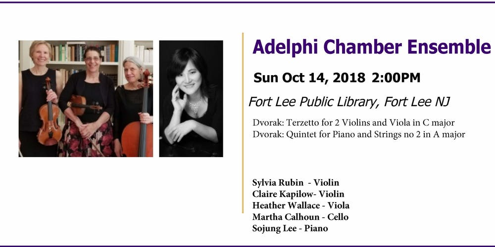 Adelphi Chamber Ensemble at Fort Lee Public Library