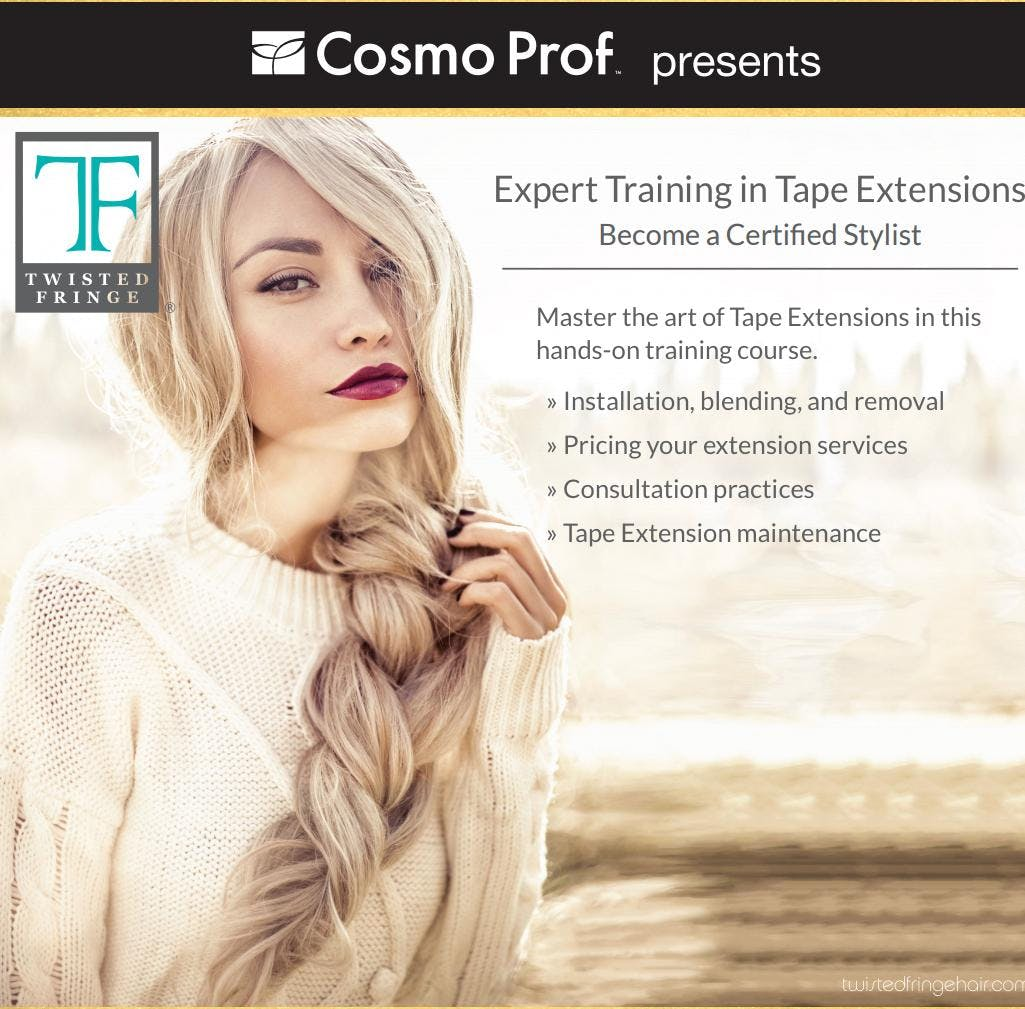 Hair Extensions Certification With Twisted Fringe 3 Dec 2018