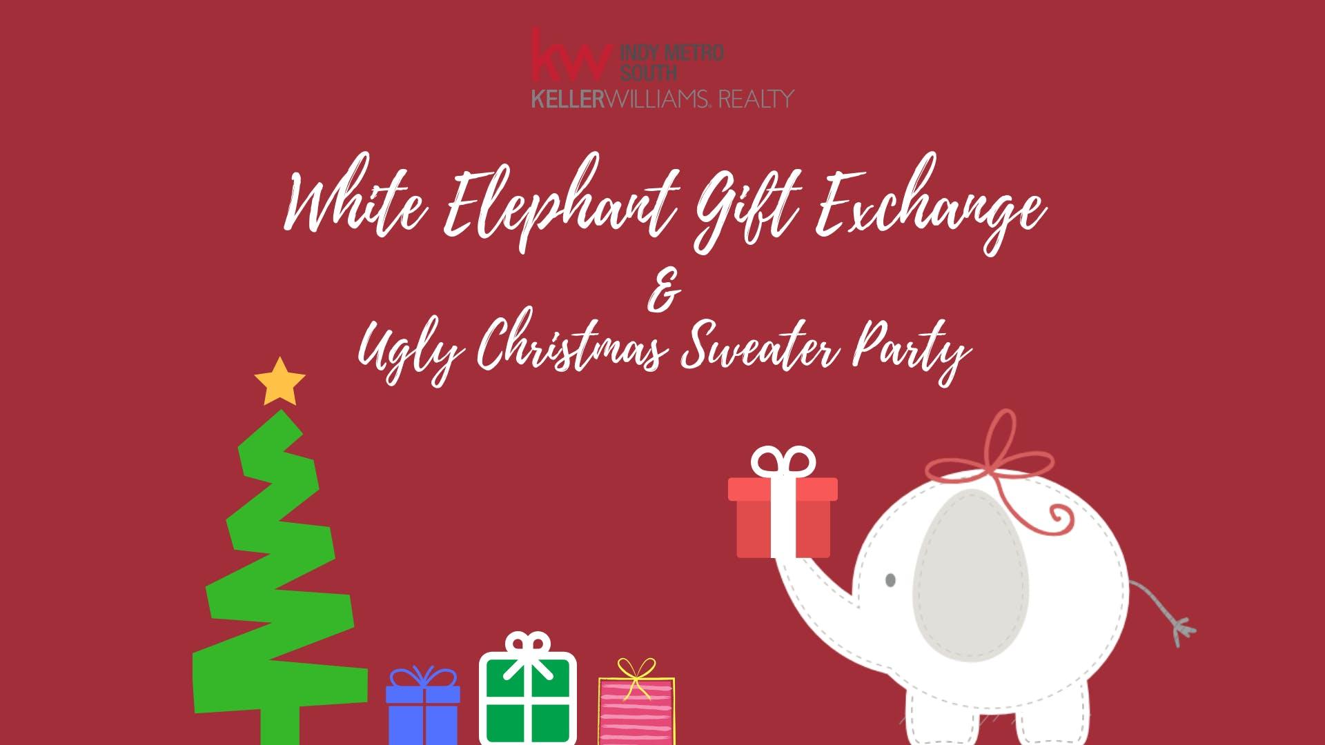kwims white elephant gift exchange ugly sweater christmas party - White Elephant Christmas Party