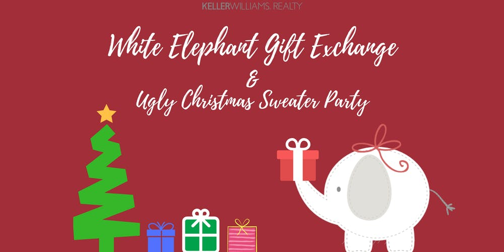 kwims white elephant gift exchange ugly sweater christmas party tickets fri dec 14 2018 at 600 pm eventbrite - Christmas White Elephant