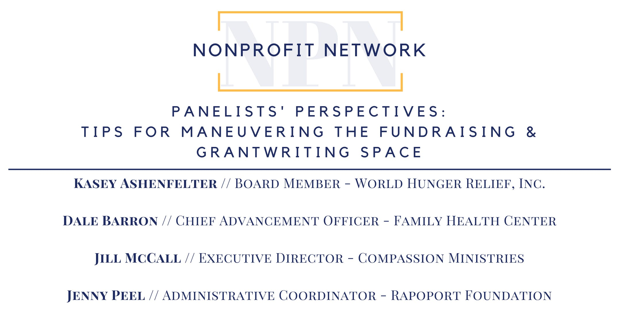 Texas Life Annex : Nonprofit Network - Panelists