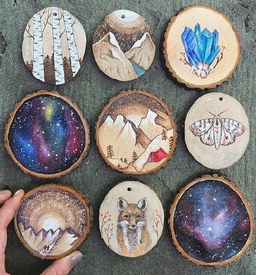 Paint Drink Night Wooden Holiday Ornaments 26 Nov 2018